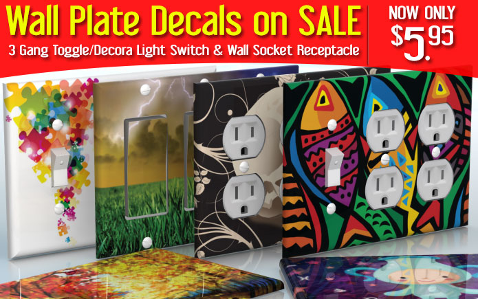 Welcome To The Wallplatedecals Webshop Where You Can Find Your Dream - Vinyl-decals-to-decorate-light-switches-and-outlets